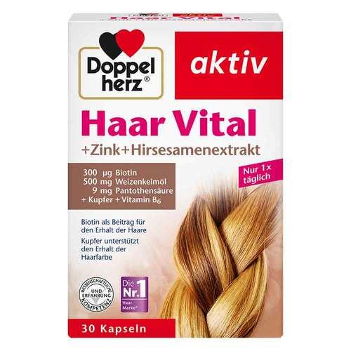 Doppelherz Haar Vital+Zink+Hirseextrakt Kapseln - 1