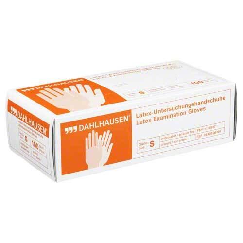 Handschuhe Latex ungepudert Größe S - 1