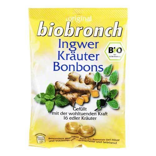 Biobronch Ingwer Kräuter Bonbons - 1