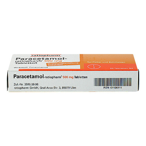 Paracetamol ratiopharm 500 mg Tabletten - 3