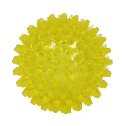 Igelball 8cm gelb transparen - 1