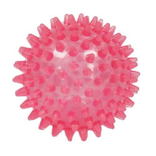 Igelball 9cm rot transparent - 1