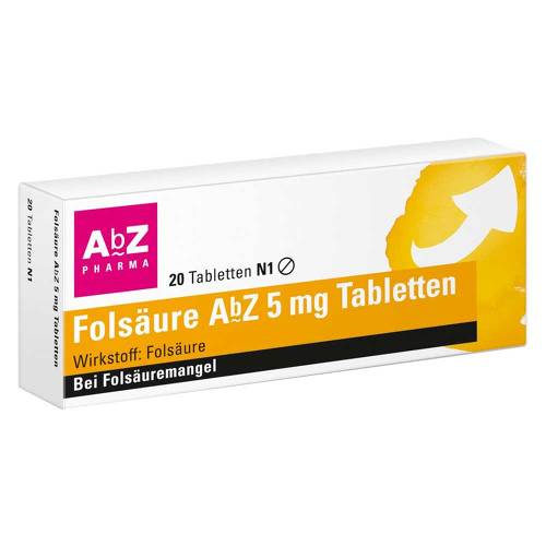 Folsäure AbZ 5 mg Tabletten - 1