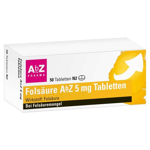 Folsäure AbZ 5 mg Tabletten - 1