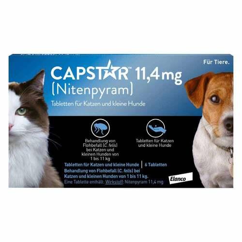 Capstar 11,4 mg für Katzen und kleine Hunde Tabletten - 1