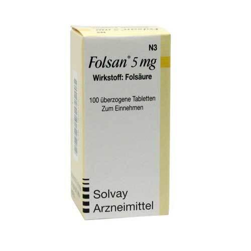 Folsan 5 mg Tabletten - 1