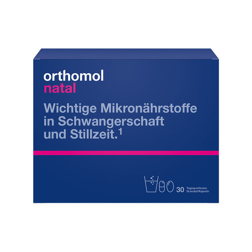 Orthomol Natal 30 Beutel Granulat / Kapseln Kombipackung - 1