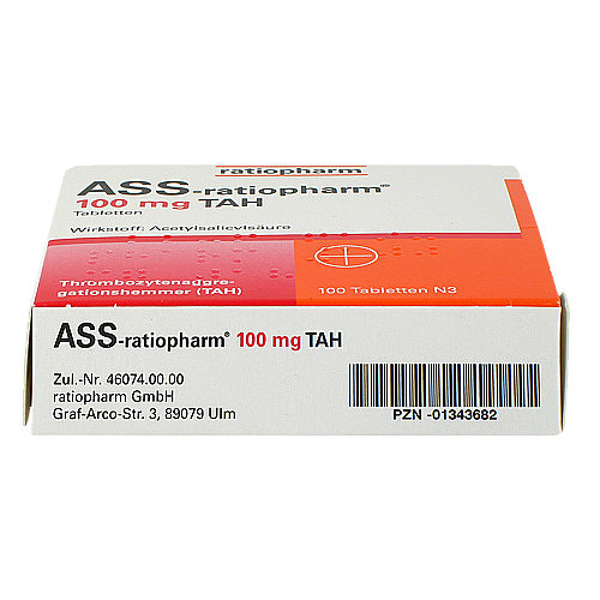 ASS Ratiopharm 100 mg TAH Tabletten - 3