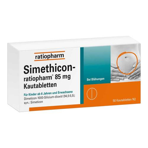 Simethicon ratiopharm 85 mg Kautabletten - 1