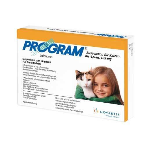 Program Suspens.für Katzen b.4,5 kg / 133 mg Ampullen - 1