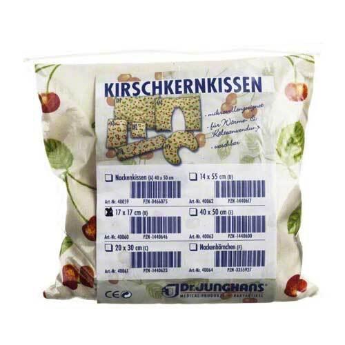 Kirschkernkissen 17x17 cm für Mikrowelle - 1
