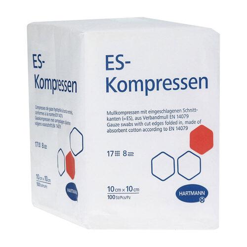 ES-Kompressen unsteril 10x10 cm 8fach - 1