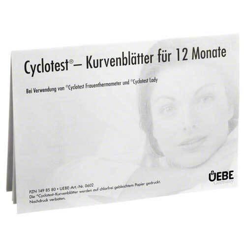 Cyclotest Kurvenblätter für Fruchtbarkeitsprofil - 1