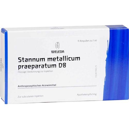 Stannum metallicum Präparat D 8 Ampullen - 1