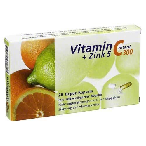 Vitamin C 300 + Zink 5 retard Kapseln - 1