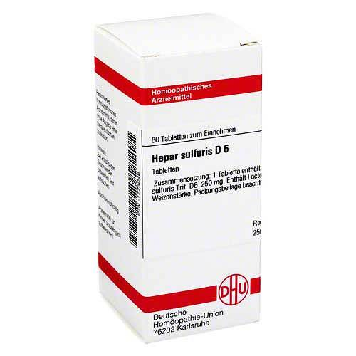 DHU Hepar sulfuris D 6 Tabletten - 1