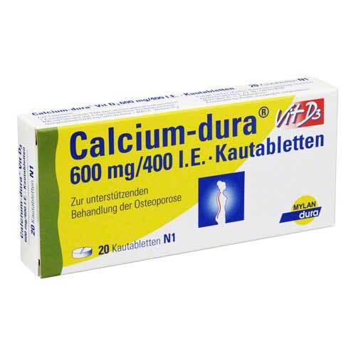 Calcium Dura Vit D3 600 mg / 400 I.E. Kautabletten - 1