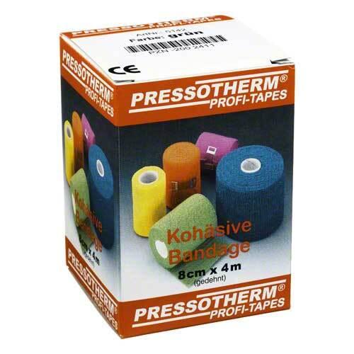 Pressotherm Kohäsive Bandage 8cmx4m grün - 1