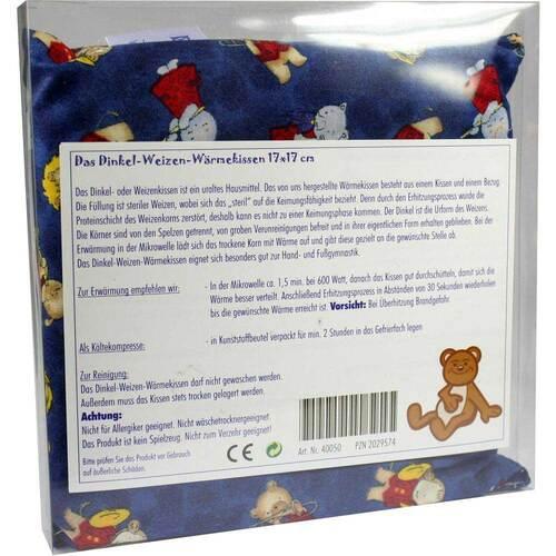 Dinkel Weizen Wärmekissen 17x17cm mit Kindermotiv - 1