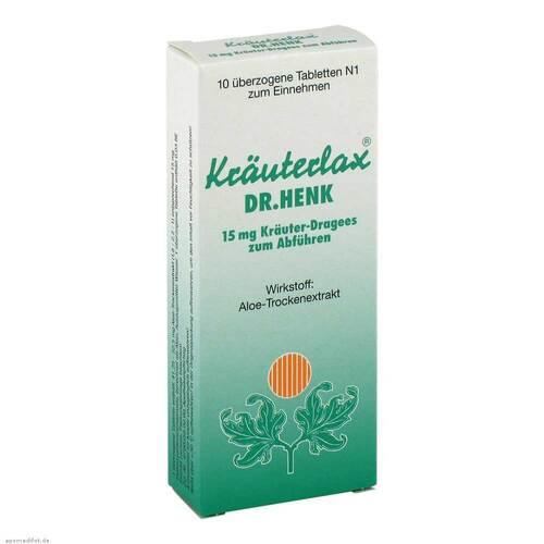 Kräuterlax Dr. Henk 15 mg Kräuterdrag.z.Abführen - 1