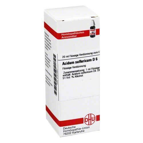 DHU Acidum sulfuricum D 6 Dilution - 1