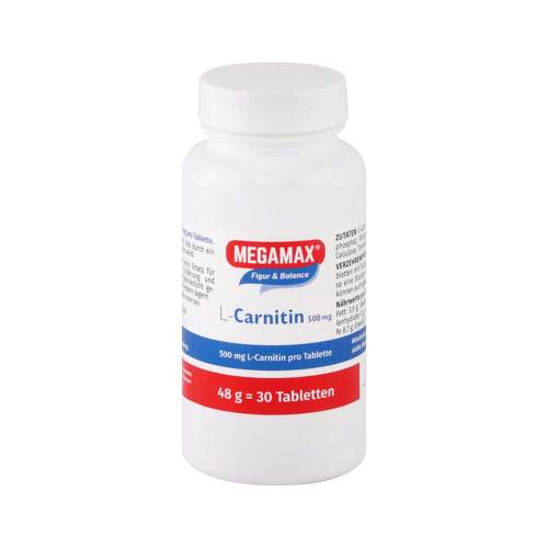 Megamax L Carnitin 500 mg Tabletten - 1