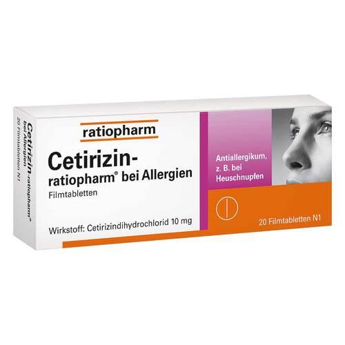 Cetirizin ratiopharm b. Allergie 10 mg Filmtabletten - 1
