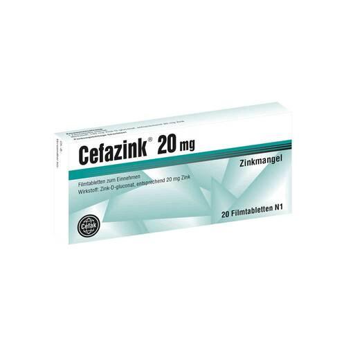 Cefazink 20 mg Filmtabletten - 1