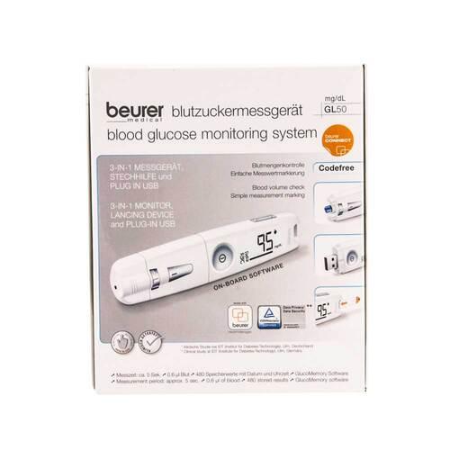 Beurer GL50 mg / dl Blutzuckermessgerät weiß - 1