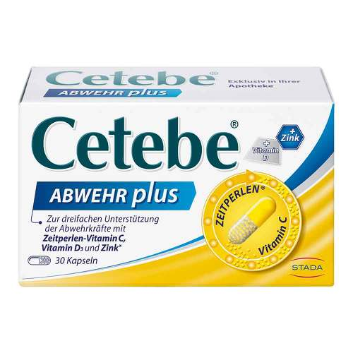 Cetebe Abwehr plus Vitamin C + Vitamin D3 + Zink Kapseln - 1