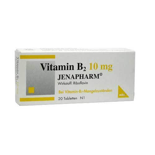 Vitamin B2 10 mg Jenapharm Tabletten - 1