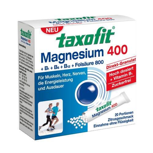 Taxofit Magnesium 400 + B1 + B6 + B12 + Folsäure 800 Granulat - 1