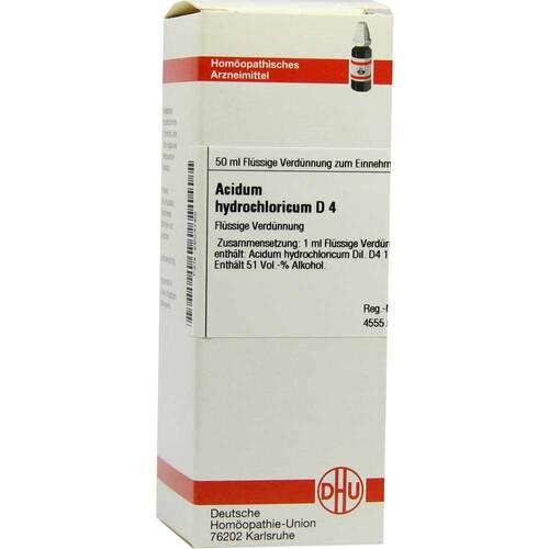 Acidum hydrochloricum D 4 Dilution - 1