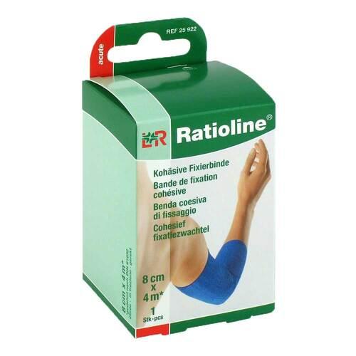 Ratioline acute Fixierbinde kohäsiv 8 cm x 4 m blau - 1