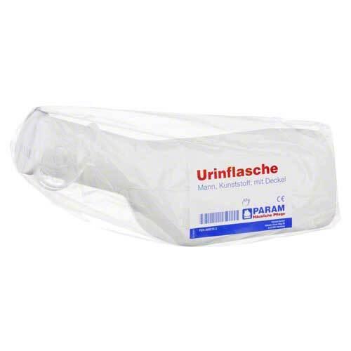 Urinflasche für Männer Kunststoff / Deckel - 1