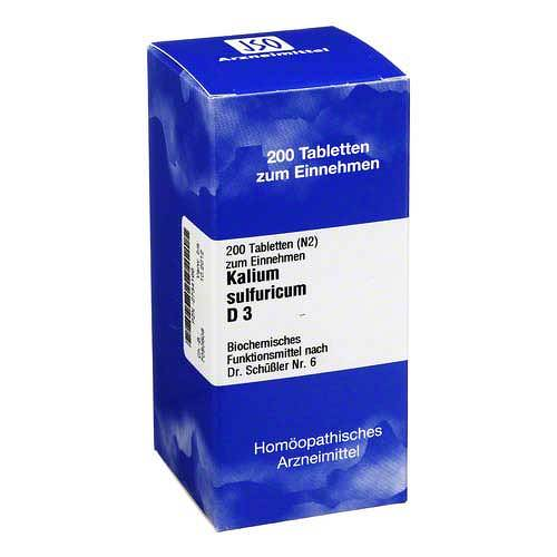 Biochemie 6 Kalium sulfuricum D 3 Tabletten - 1