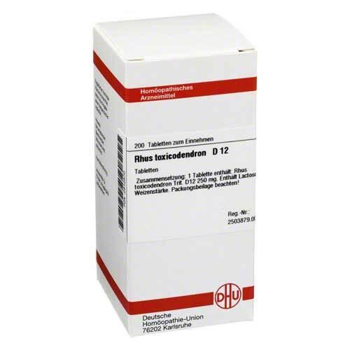 Rhus toxicodendron D 12 Tabletten - 1