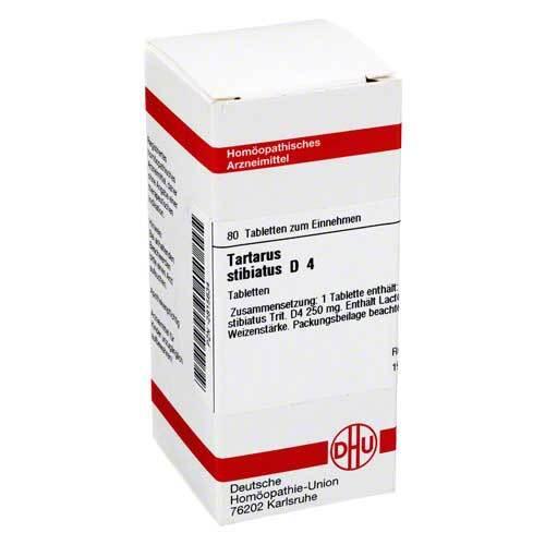 DHU Tartarus stibiatus D 4 Tabletten - 1