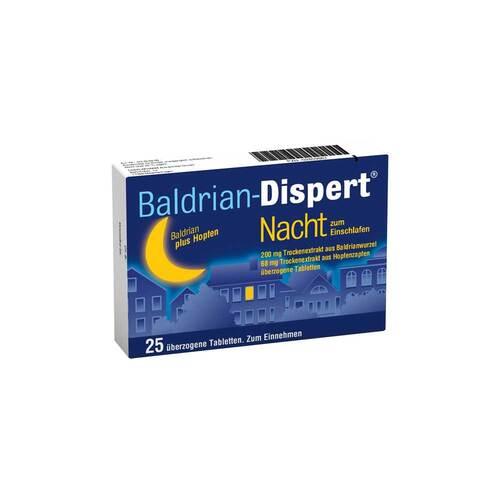 Baldrian Dispert Nacht zum Einschlafen überzogene Tabletten - 1