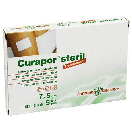 Curapor Wundverband transparent 5x7 cm steril - 1