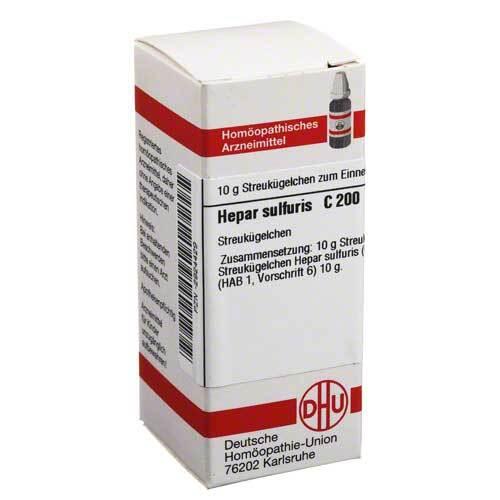 DHU Hepar sulfuris C 200 Globuli - 1