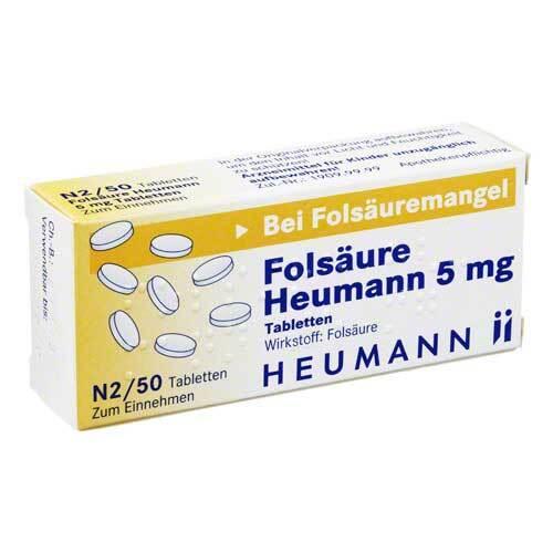 Folsäure Heumann 5 mg Tabletten - 1