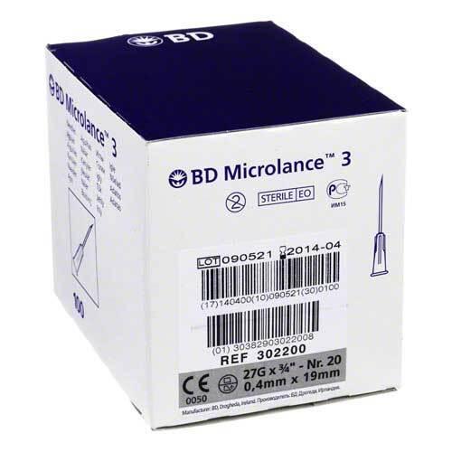 BD Microlance Kanüle 27 G 3 / 4 0,4x19 mm - 1