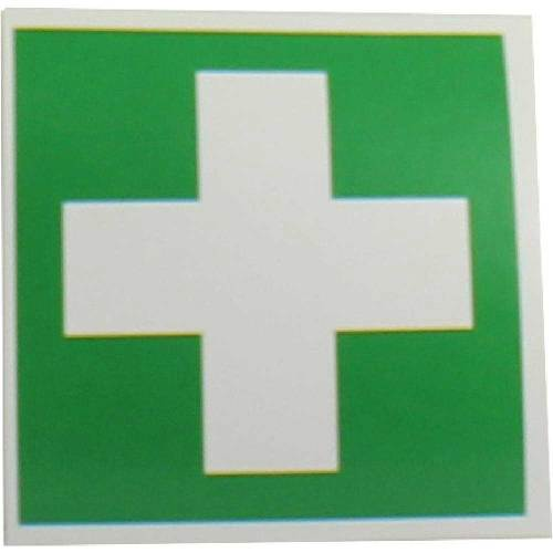 Grünes Kreuz Aufkleber Verbandkasten - 1