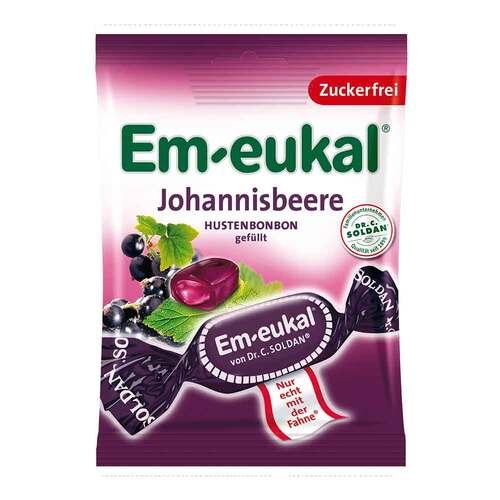 Em-eukal Hustenbonbons Johannisbeere gefüllt zuckerfrei - 1