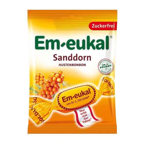 Em-eukal Hustenbonbons Sanddorn zuckerfrei - 1