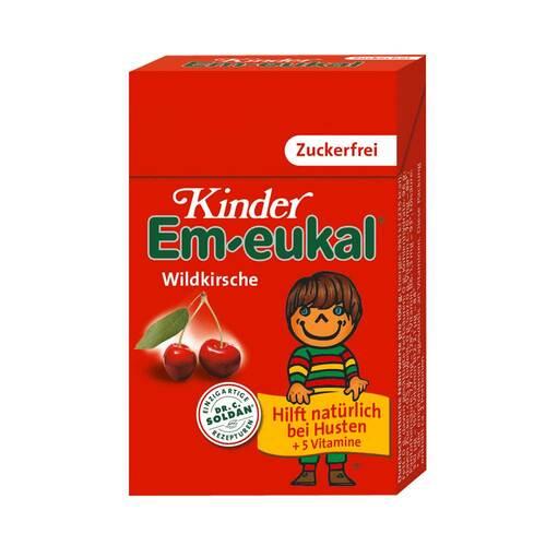 Kinder Em-eukal Hustenbonbons Wildkirsche zuckerfrei Pocketbox - 1