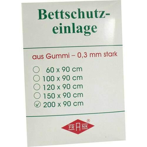 Betteinlage 200x90cm weiß Gummiplatte 0,3 mm - 1