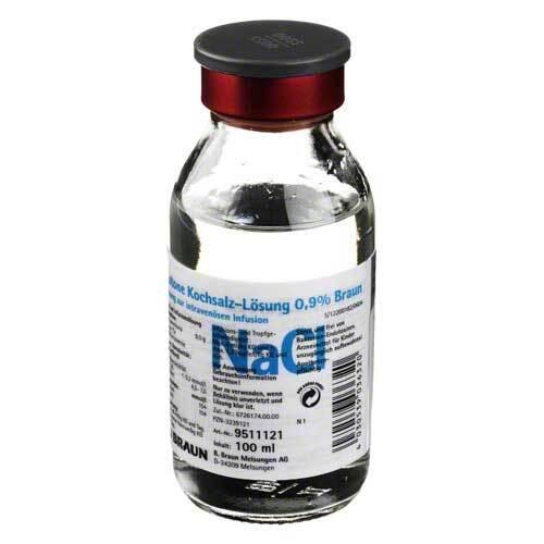 Kochsalzlösung 0,9% Glasflasche - 1