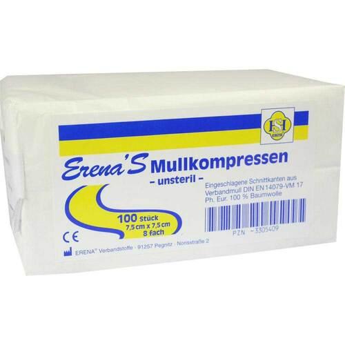Erena Unsteril Mullkompresse 7,5 - 1